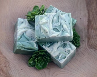 Winter Woods Soap || cold process | artisan | handcrafted soap | pine | spruce | forest | woodsy | gift