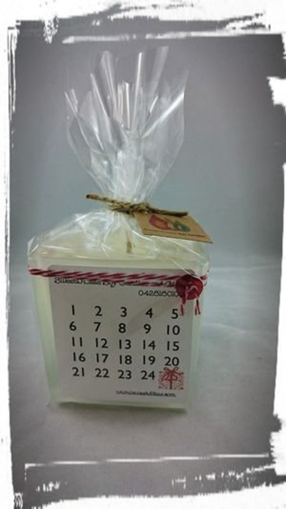 100% Australian Hand Made Soy Wax Square Jar Advent Candle