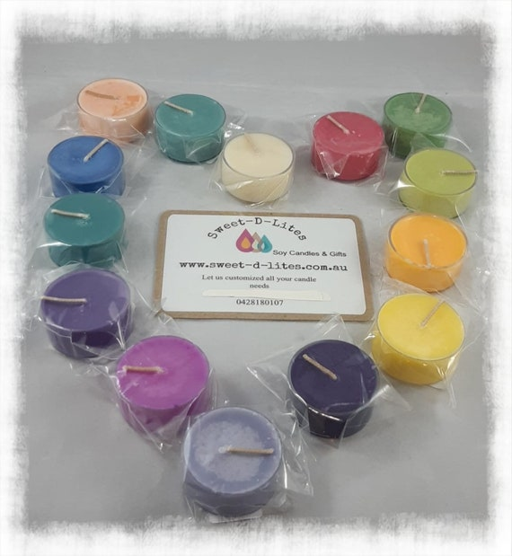 100% Australian Hand Made  Soy Wax Tea Light