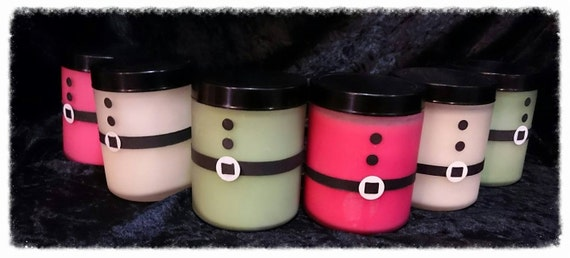 100% Australian Hand Made Soy Wax Santa Candles