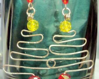 SALE Christmas/Holiday Tree Earrings