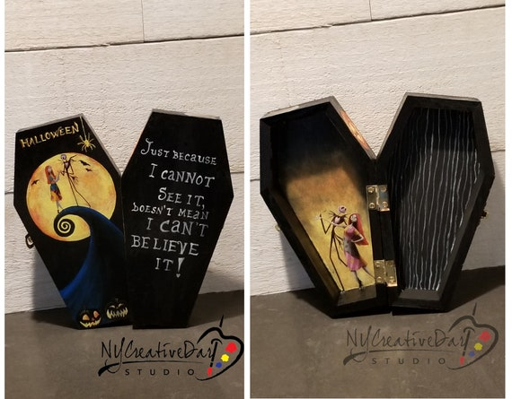 Halloween Decorative Coffin - The Nightmare before Christmas