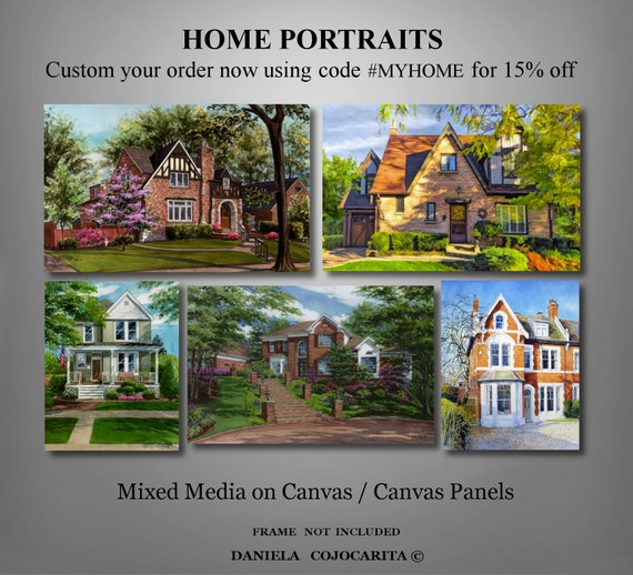 Art,Wall decor,Modern,House,Home portrait,Photo,Family gift,parents gift,Garden,painting,Christmas gift,us,Home decor,Thanksgiving,yard,door