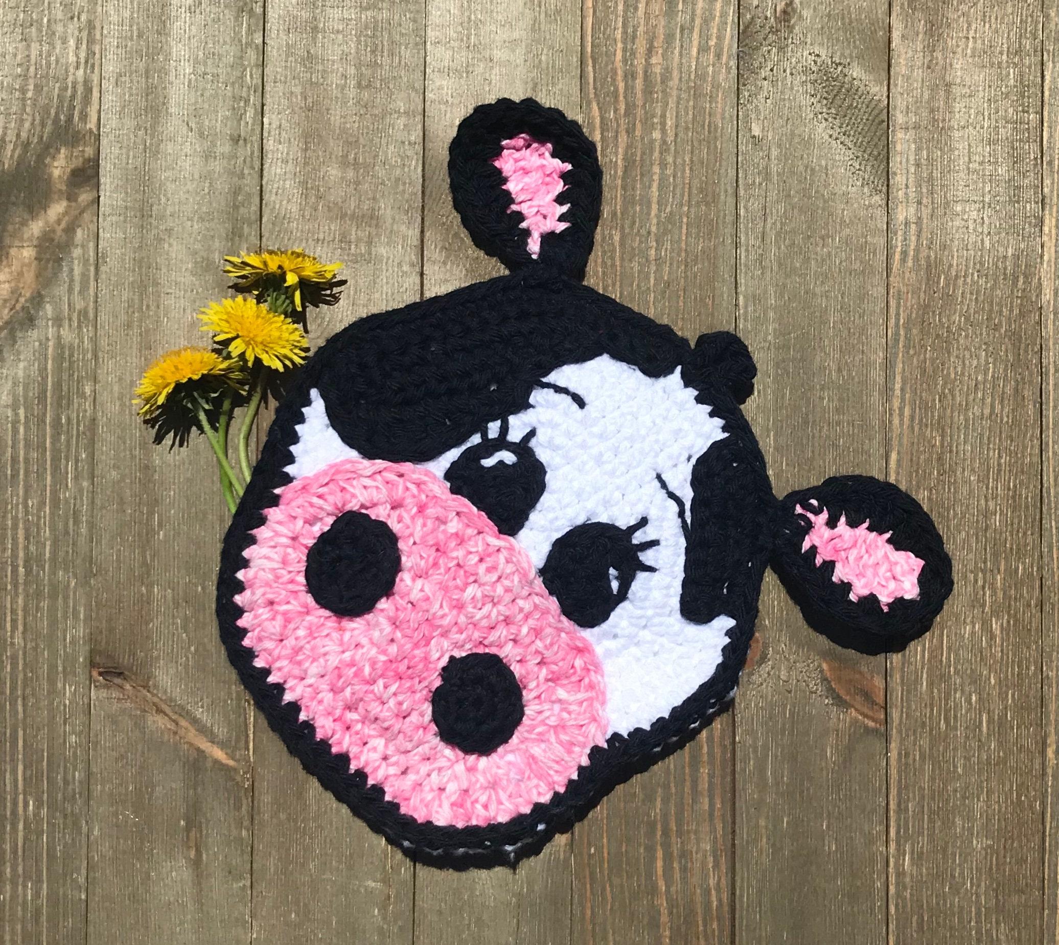 Crochet Cow Pot Holder Etsy
