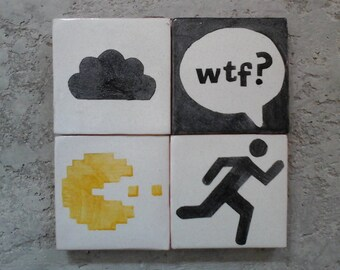Funny signs for home; Funny wall signs; Funny wall decor; Pac-Man figure; Pac-man signs; wtf gift; wtf designs; Funny gifts; Humorous gifts