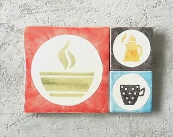Kitchen utensils decor. Kitchen vintage decor. Kitchen retro decor. Kitchen wall decor. Kitchen wall art. Kitchen decor. Kitchen tiles.