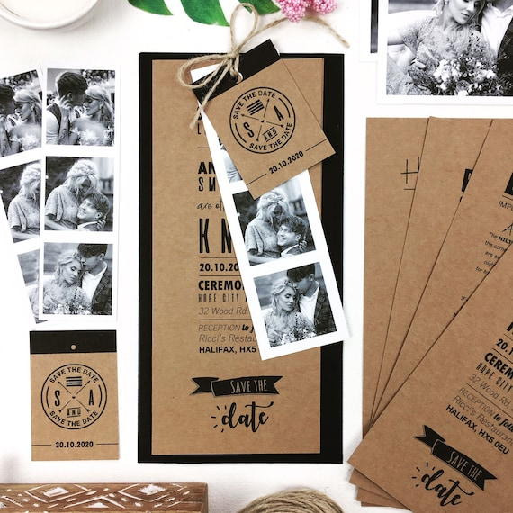 100 Personalised Craft Photo Booth Booklet Wedding Invitations Etsy