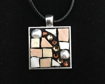 Shades of Beige Mosaic Pendant