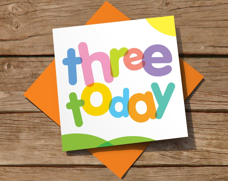 FREE Delivery Bright And Colourful 3rd Birthday Card For Boy