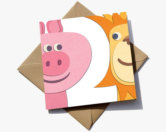 FREE Delivery 2nd Birthday Card For Boy Or Girl Where The