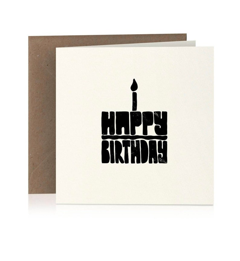 FREE Delivery General Birthday Card With Hand Drawn