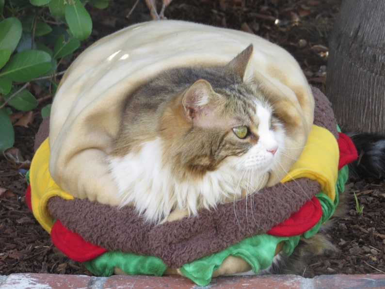 Sold Out Hamburger Costume Catdog By Cozy Pawz Etsy