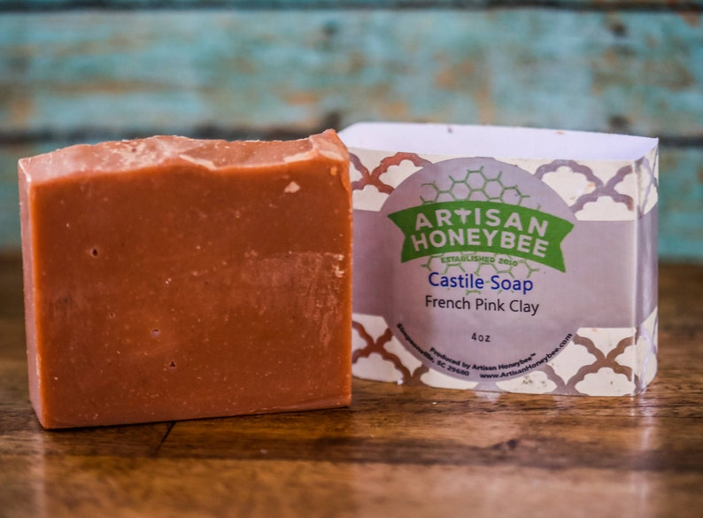 Beeswax Castile Soap - French Pink Clay w/Shea Butter