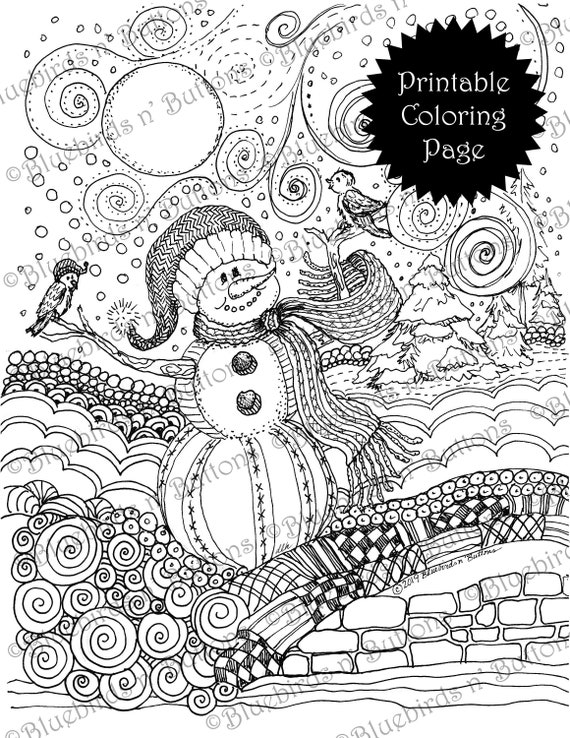 Coloring Page  Printable Coloring Page  January Coloring