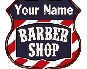 JERRY/'S Barber Shop Hair Salon Personalized Metal Sign Retro 106180031249