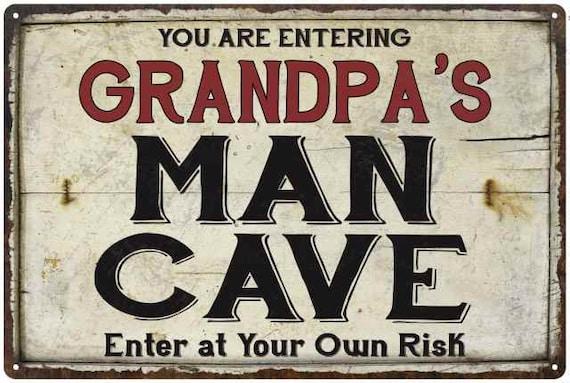 Grandpas Workshop Garage Metal Sign Vintage Style Man Cave Decor 24 x 5