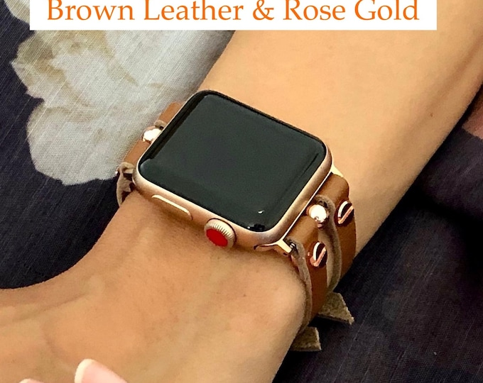 Apple Watch Band 38mm 40mm 42mm 44mm Women Rose Gold Apple Watch Strap iWatch Band Apple Watch Jewelry Bracelet Wrap