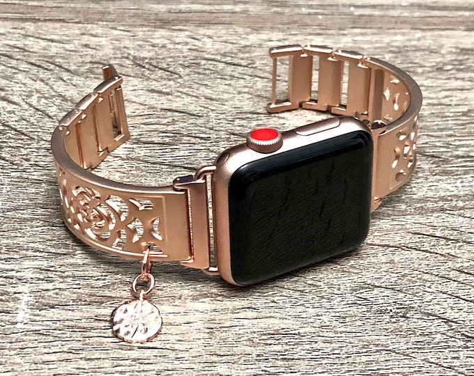 Rose Gold Apple Watch Band 38mm 40mm 42mm 44mm Bracelet iWatch Band Rose Gold Adjustable Apple Watch Band 40mm 44mm iWatch Band Jewelry