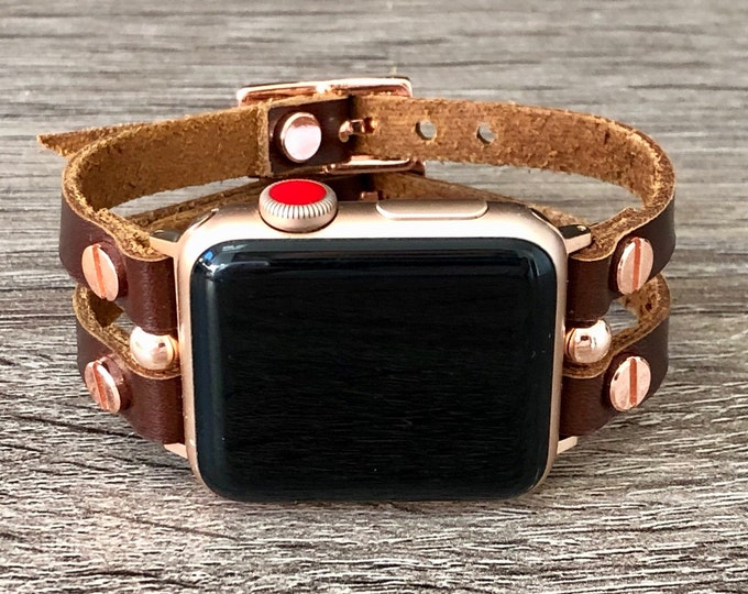 Apple Watch Band 38mm 40mm 42mm 44mm Leather Strap Bracelet Apple Watch Series 1,2,3,4,5 Women iWatch Band Jewelry Apple Watch Wristband