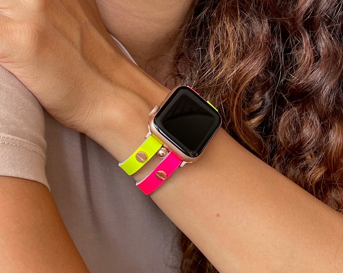 Apple Watch Band 38mm 40mm 42mm 44mm Men Women LGBT Rainbow iWatch Strap Bracelet Gay Lesbian Bisexual Bi Transgender Boho Wristband