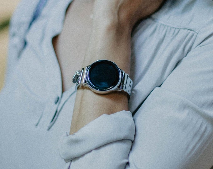 Samsung Galaxy Watch Band Silver Women Samsung Galaxy Watch Active Bracelet 20mm Watch Bracelet Watch Active2 40mm - 44mm Adjustable Bangle