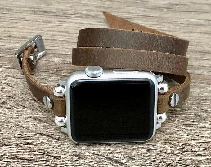 Vintage-Distressed-Leather-Apple-Watch-Bracelet-iWatch-Band-Women-Apple-Watch-Band-38mm-40mm-iWatch-Strap-Apple-Watch-42mm-44mm-Watch-Band