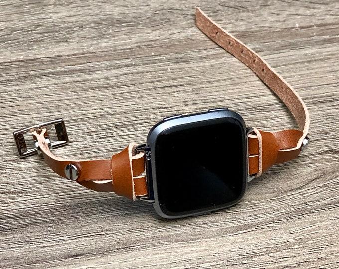 Fitbit VERSA 2 Band Adjustable FITBIT Versa Lite Strap Bracelet Silver & Light Brown Slim Fitbit Versa Watch Band Women Fitbit Versa 2 Watch