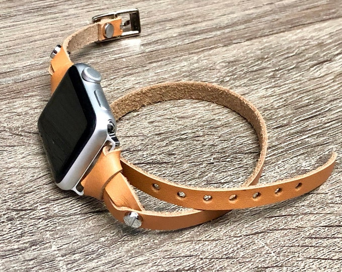 Apple Watch Band 38mm 40mm 42mm 44mm Series 1 2 3 4 Leather iWatch Silver Apple Watch Wristband Adjustable Stainless Steel Watchband