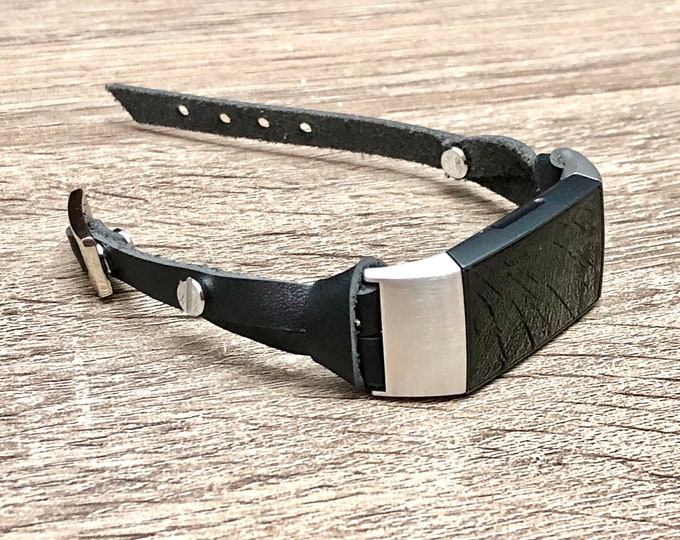 Classic Leather Fitbit Charge 3 Band Slim Indigo Black Fitbit Charge 3 Strap Bracelet Stainless Steel Fitbit Charge 3 Bracelet Leather Band