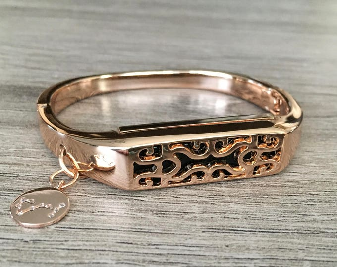 Rose Gold Color Band for Fitbit Flex 2 Fitness Tracker Bangle Metal Fitbit Flex 2 Handmade Bracelet Constellation Charm Fitbit Flex 2 Band