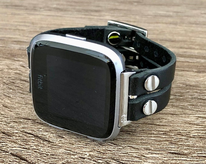 Fitbit Versa 2 Band Silver Fitbit Versa Watch Bracelet Fitbit Versa Lite Wristband Black Leather Straps Fitness Activity Fitbit Watch Band