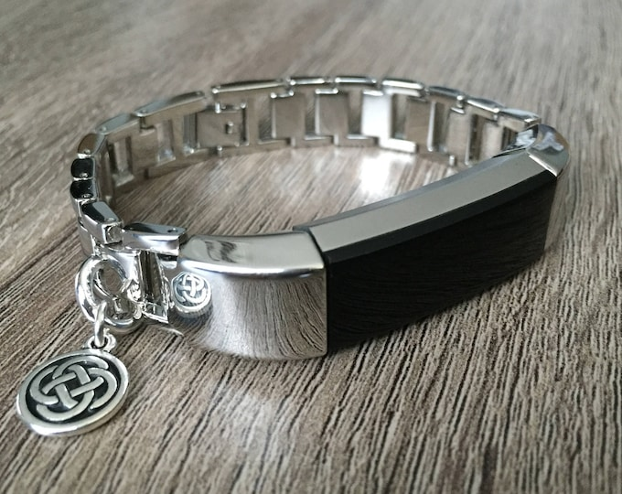 Silver Metal Band for Fitbit Alta HR Celtic Knot Charm Link Fitbit Alta Bracelet Fitness Activity Tech Fitbit Alta HR Bangle Mother's Day