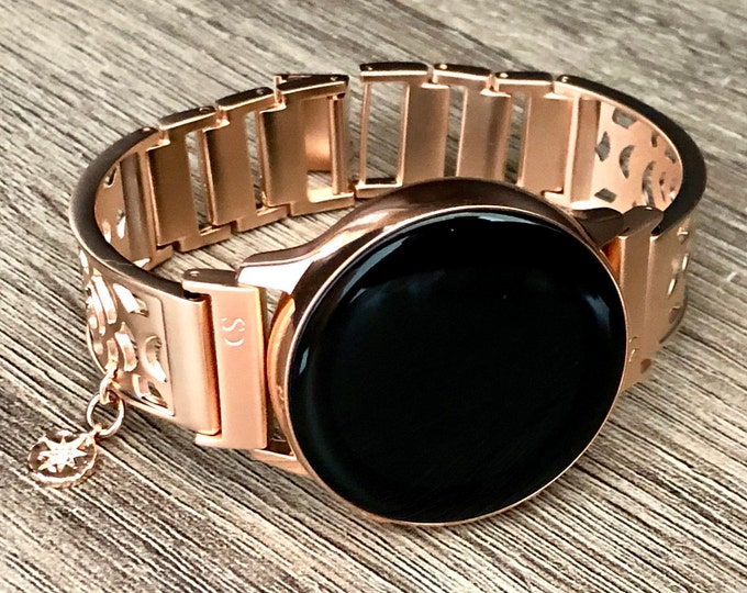 Samsung Galaxy Watch Band Rose Gold Bracelet Galaxy Watch Active  Bangle 40mm Adjustable 20mm  Rose Gold Bracelet