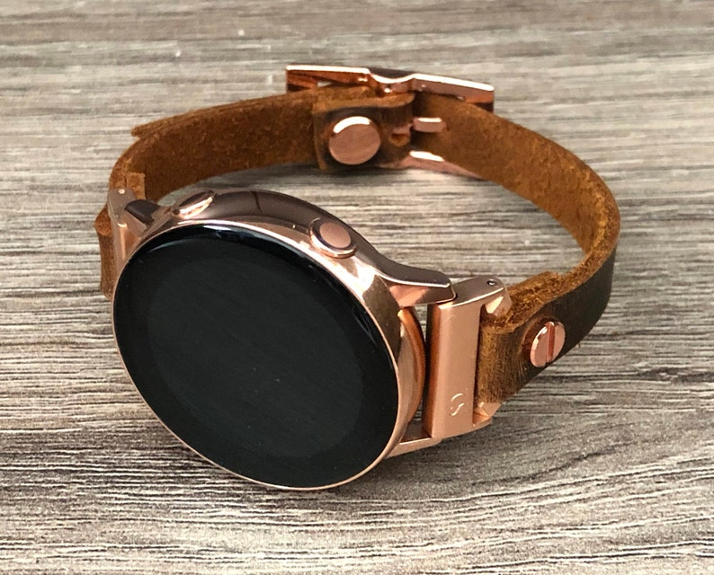 Samsung Galaxy Watch 42mm Band Vintage Brown Leather Galaxy image 0