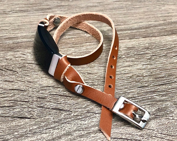 Bronze Genuine Leather Fitbit Inspire HR Band Adjustable Fitbit Inspire Strap Wristband Fitbit Inspire HR Bracelet Fitbit Inspire HR Jewelry