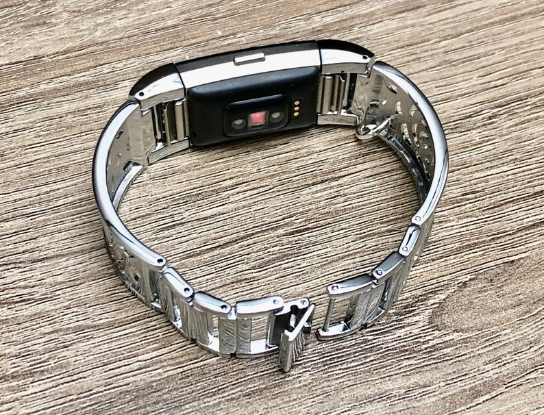 Silver Metal Bracelet for Fitbit Charge 2 Activity Tracker Handmade Adjustable Fitbit Charge 2 Band Silver Buddha Pendant Yogi Jewelry Band