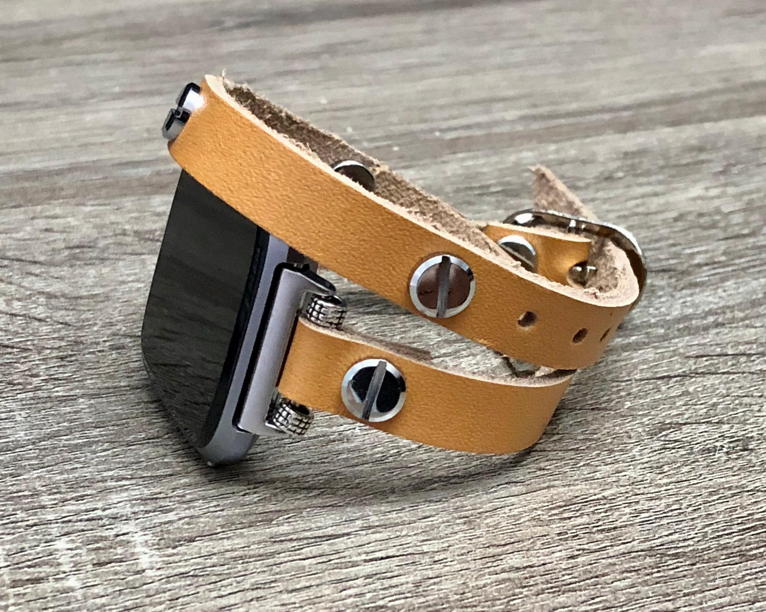 Fitbit VERSA Band Beige Leather Strap Fitbit Versa Watch