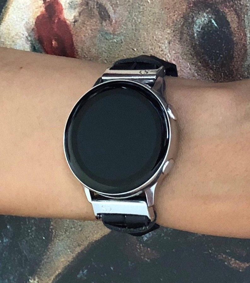 Samsung Galaxy Watch Active2 40mm Leather Bracelet Black & image 0