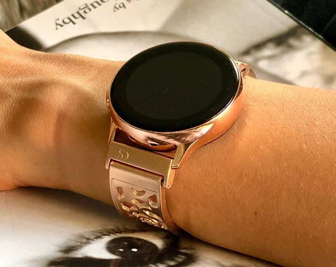 Rose Gold Samsung Galaxy Watch Active 40mm Women Band Rose Gold Galaxy 42mm Bangle Adjustable Band Samsung Galaxy Watch Active2 40mm 44mm