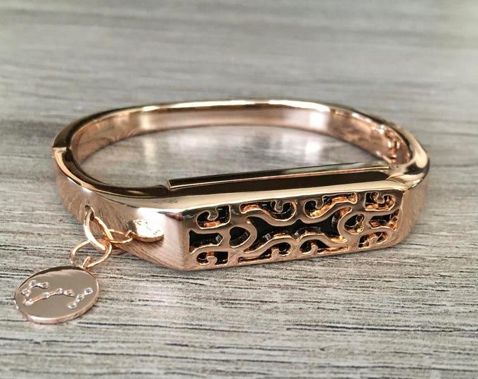 Rose Gold Color Band for Fitbit Flex 2 Fitness Tracker Bangle Metal Fitbit Flex 2 Handmade Bracelet Constellation Charm Fitbit Flex 2 Band
