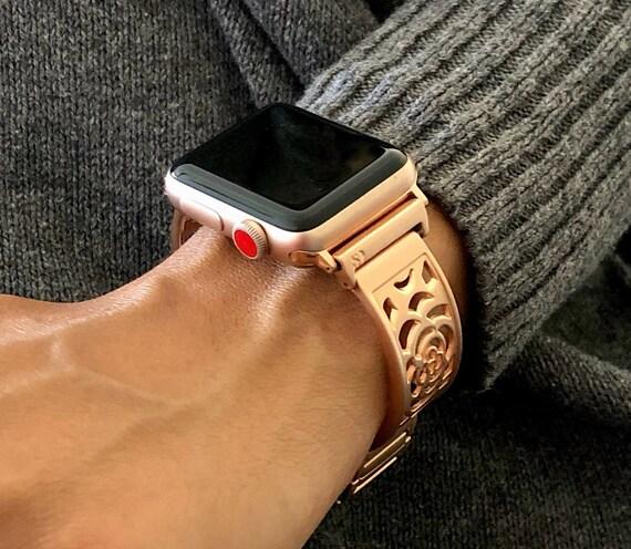 Rose Gold Apple Watch Band 38mm 40mm 42mm 44mm Bracelet Iwatch Etsy