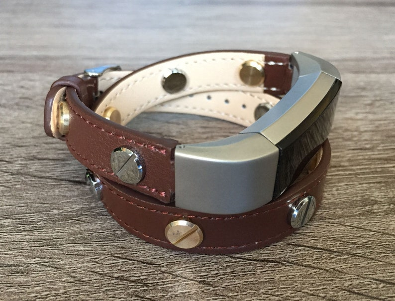 Brown Double Wrapped Band For Fitbit Alta HR Two Toned Leather Bracelet  Fitbit Alta HR Replacement Band Fitbit Alta Accessories Mother's Day