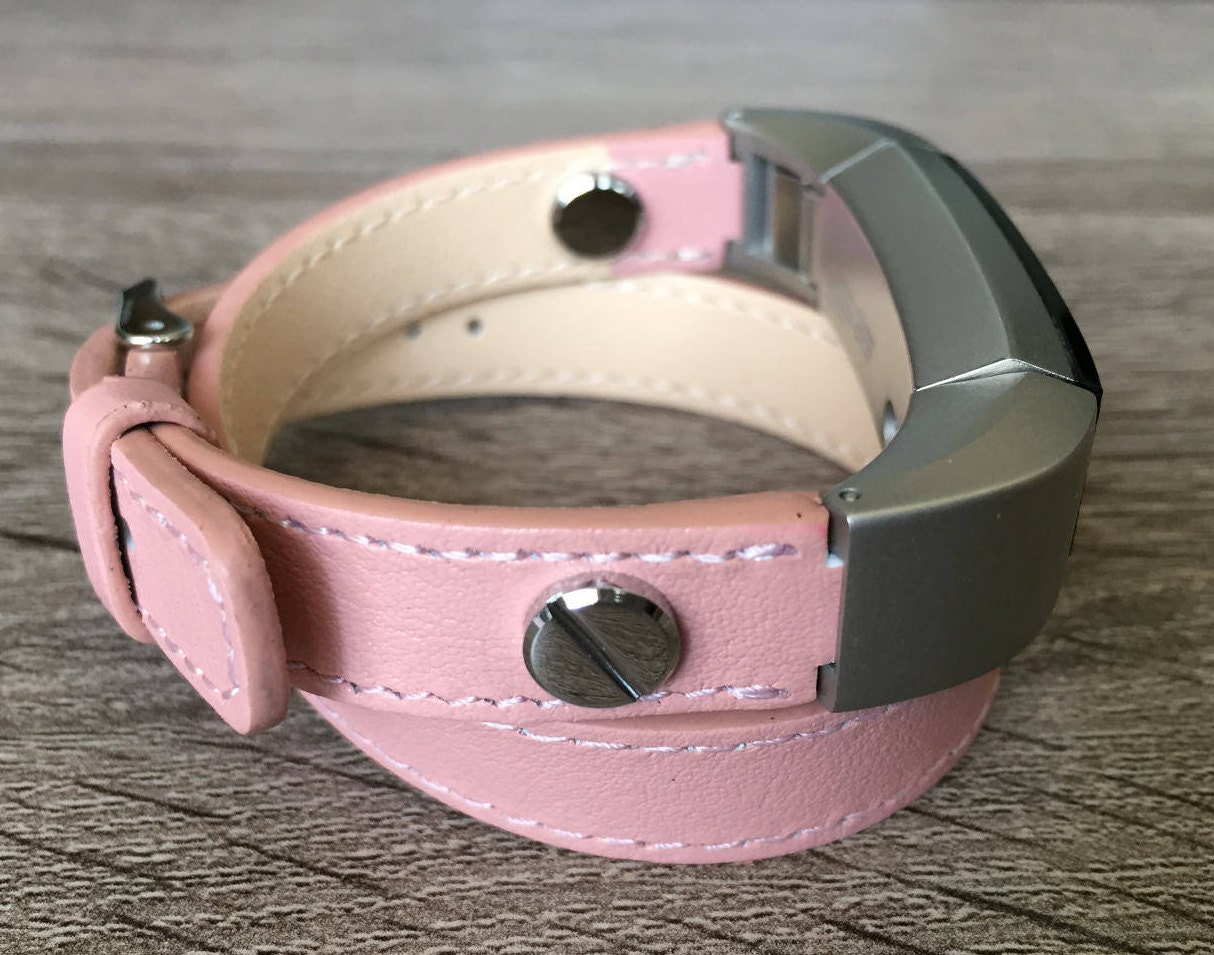 Pink Vegan Band For Fitbit Alta HR Double Wrapped Eco Friendly | Etsy