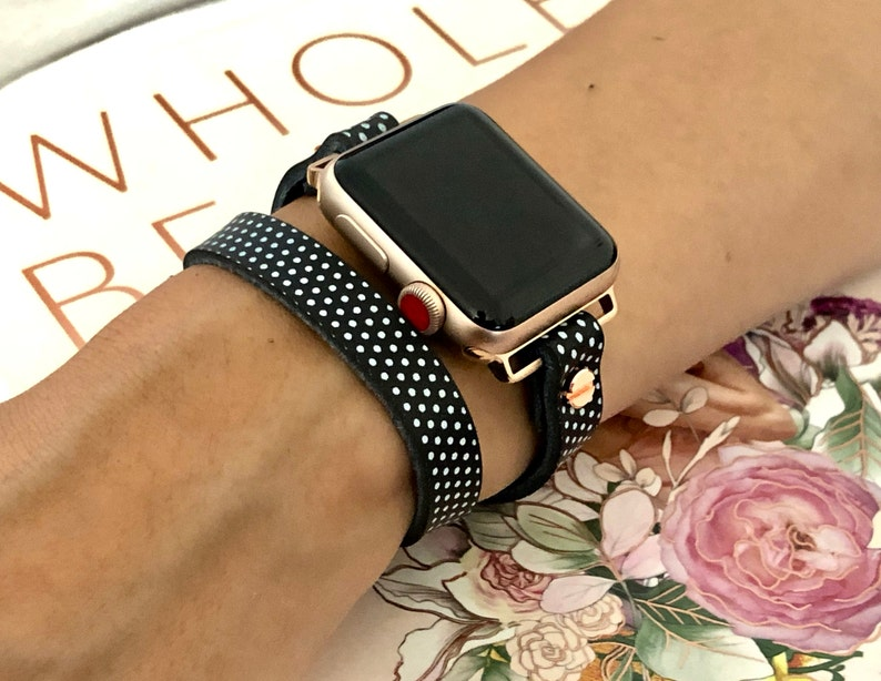Apple Watch Band Polka Apple Watch Bracelet 38mm 40mm 42mm image 0
