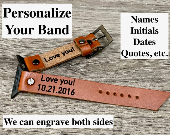 Now you can order Personalized Custom Laser Engraving After You Purchase Genuine Leather Bracelet From My Studio
