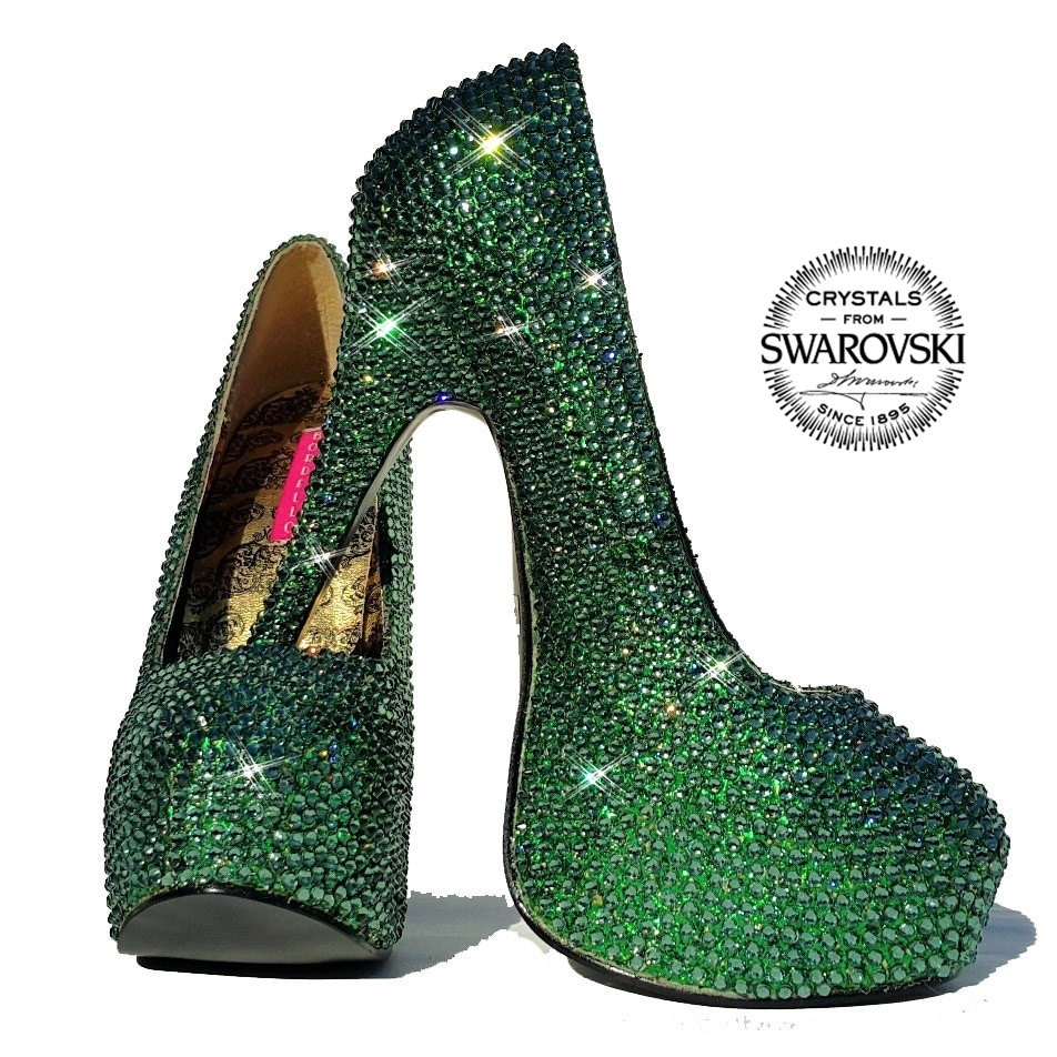 7a2f2f087fb Sparkly High heels shoes-Swarovski Crystal Pumps-Bling