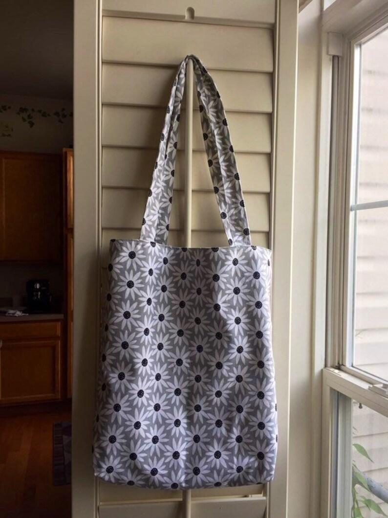 Reversible women/'s shoulder bag. Summer bag Eco bag Canvas tote bag