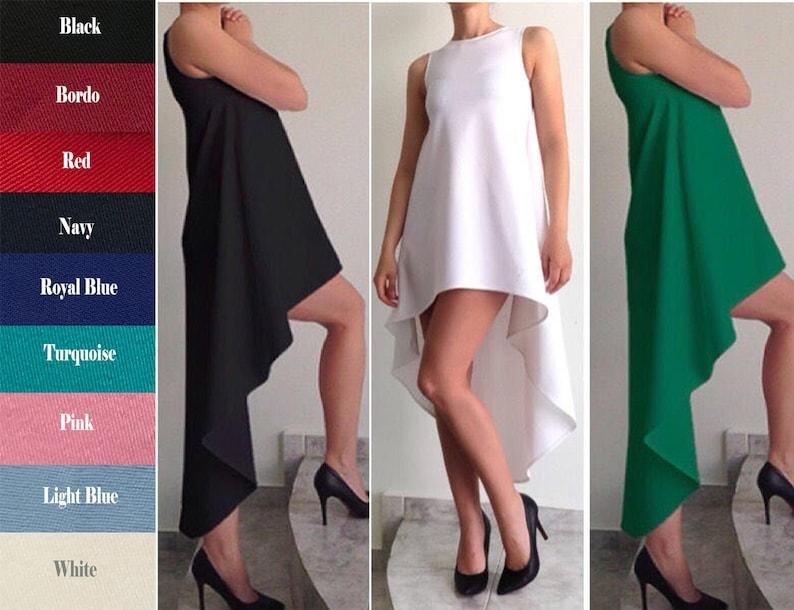 Asymmetric Dress / Women's Dresses / White Dress / image 0