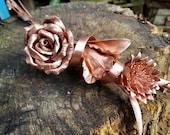 Trio of flowers, copper E...