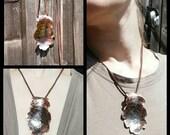 Oak leaf pendant, texture...